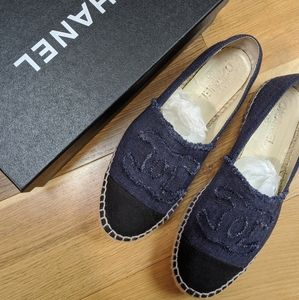Chanel espadrilles navy and black